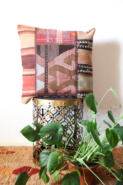 Large Colorful Kilim Pillow
