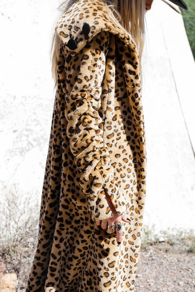 Vintage Faux Fur Cheetah Coat