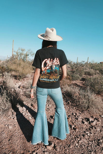 Harley Davidson Vintage 90's Chick's, Albuquerque NM, T-shirt