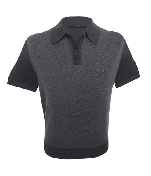Grey Wool Polo Knitwear