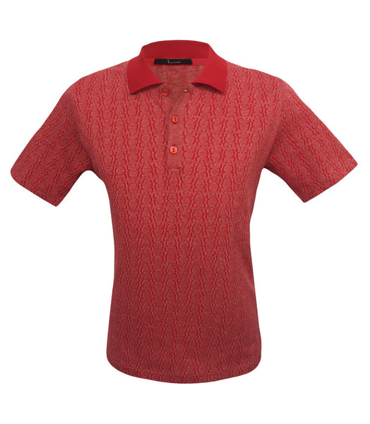 Red Polo Logo Pattern, Size S