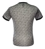 Black Patterned Tee, Size XXS