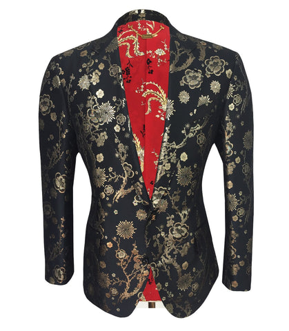 Gold Floral Jacket, Size S
