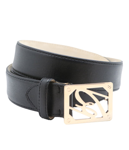 Black Grey Calfskin Belt