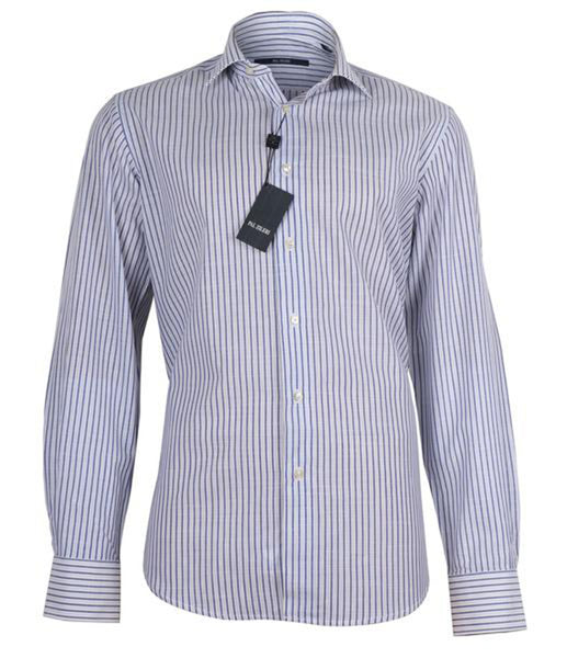 Dark Blue Striped Shirt