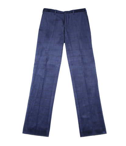 Checked Velvet Pants