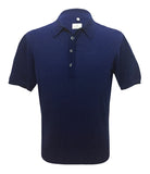 Navy Wool Polo Knitwear