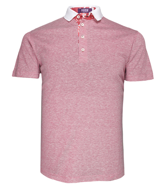 Coral Cotton Linen Polo