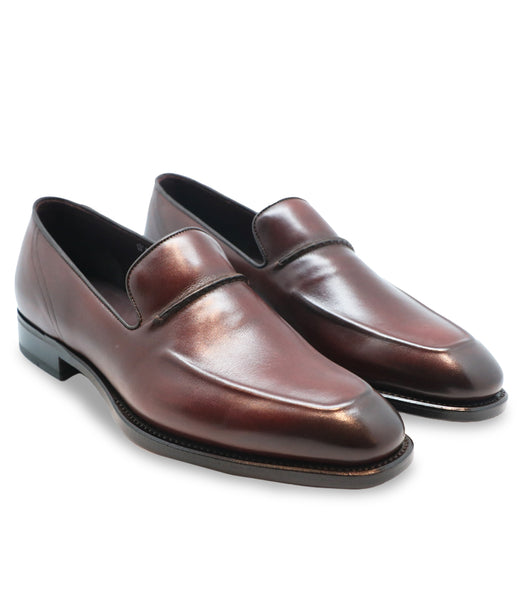 Maroon Calfskin Loafers