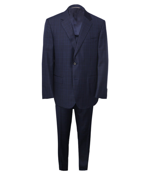 Blue Checked Suit, Size 56