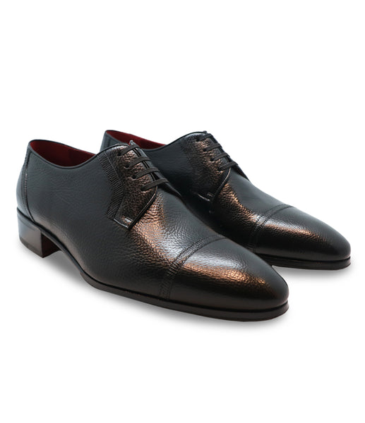 Black Leather Derby
