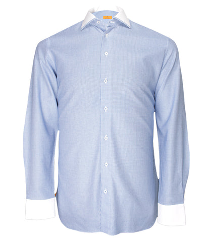 Blue White Dress Shirt