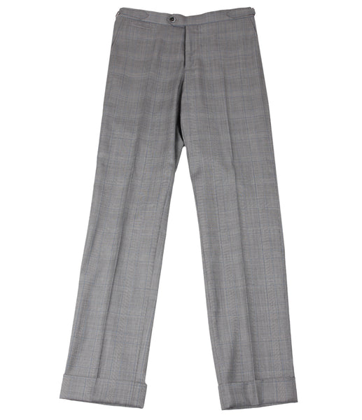 Grey Checkered Pants, Size 48