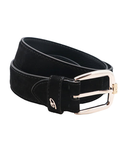 Black Grey Suede Belt