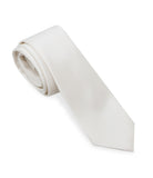 White Solid Silk Tie Set