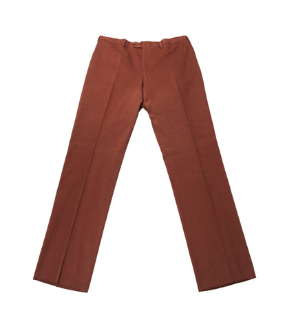 Brown Cotton Formal Pants