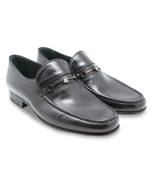 Black Lambskin Loafers