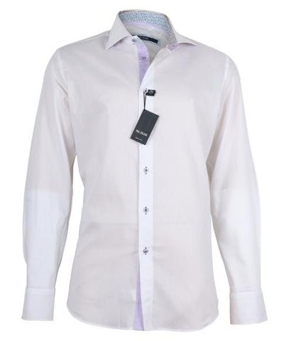 White Purple Shirt, Size 45
