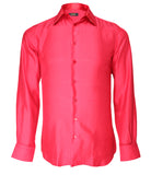 Red Silk Shirt Jacquard