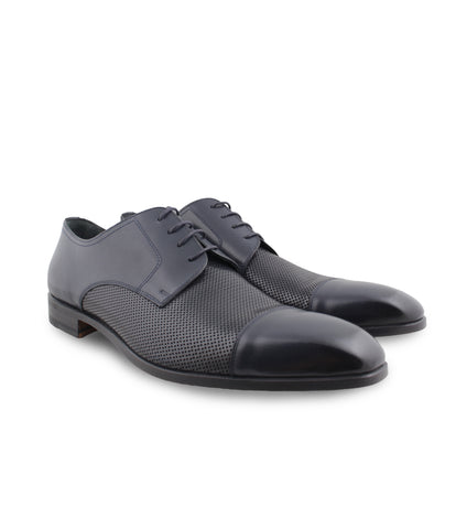 Navy Perforated Derby, Size 10