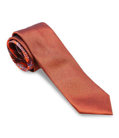 Orange Silk Standard Tie