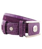 Soft Violet Leather Belt