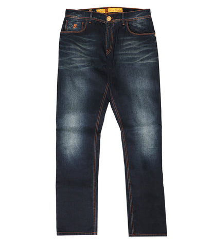 Dark Blue Faded Jeans