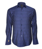 Navy Patterned Shirt Flavio