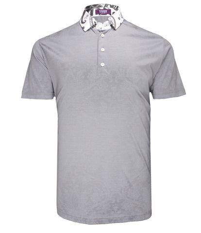 Grey Cotton Polo, Size XXL
