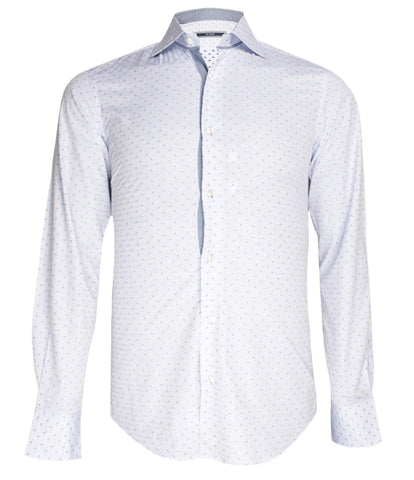 Sky Blue Patterned Shirt