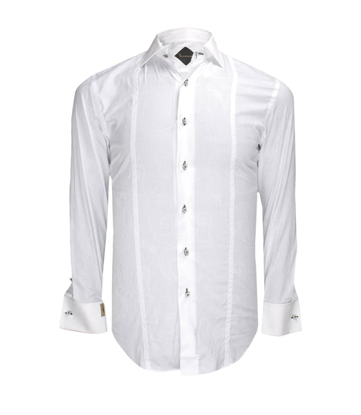 White Patterned Shirt Cattani