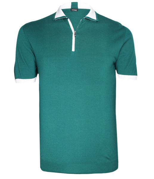 Green Cotton Polo, Size M