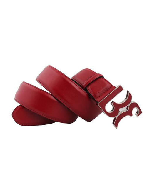 Red Calf Leather Belt