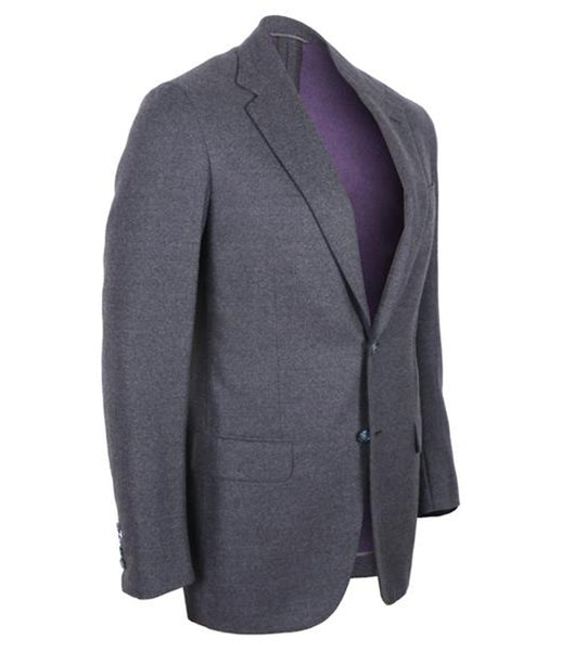 Grey Wool Blazer Jacket