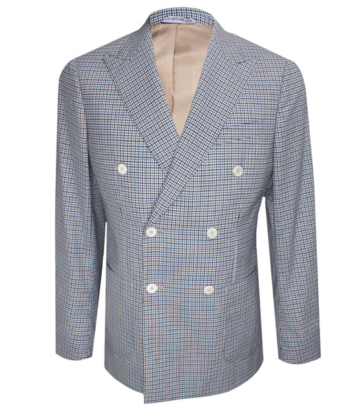 Blue Checkered Blazer, Size 42""