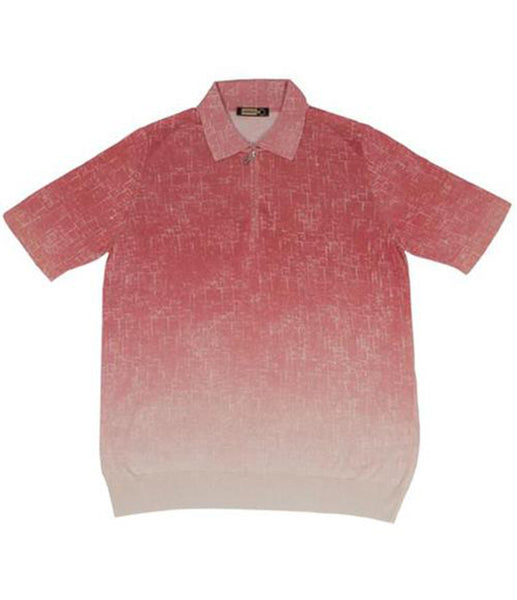 Coral Silk Polo, Size XS