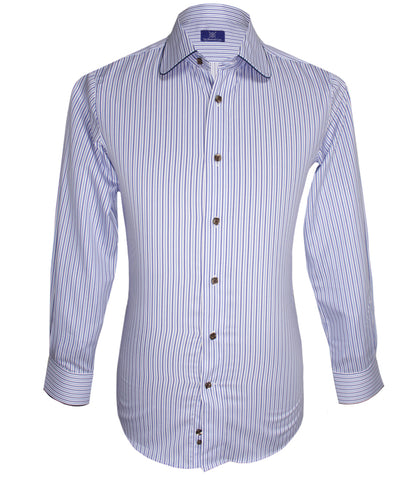 Blue Striped Shirt, Size 39