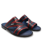 Red Blue Leather Sandals