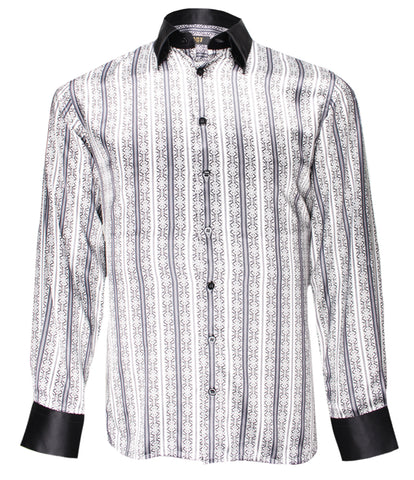 Black Striped Silk Shirt