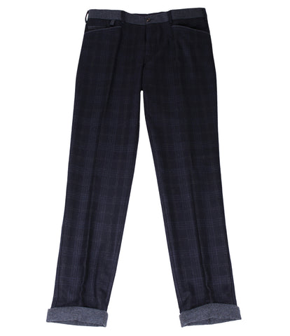 Charcoal Blue Wool Pants