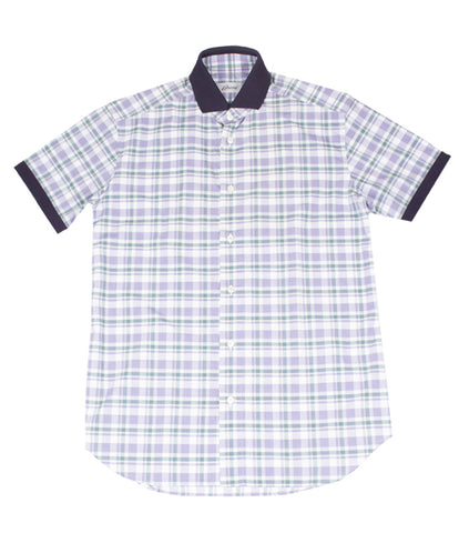 Violet Green Checked Shirt