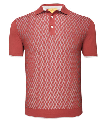 Cotton Silk Maroon Polo