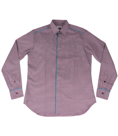 Patterned Shirt With Piping
