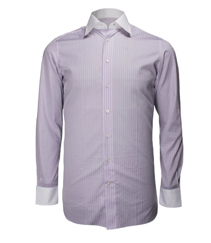 Lilac Striped Formal Shirt