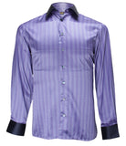 Luxury Silk Purple Shirt