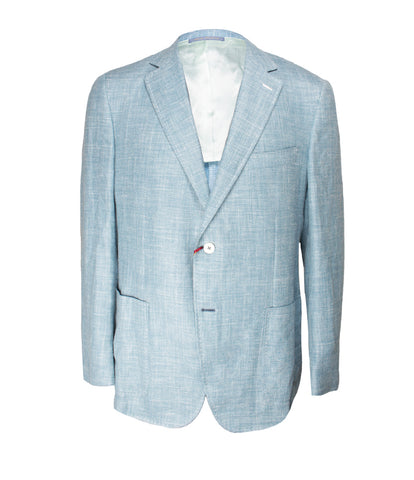 Luxury Aqua Blue Jacket