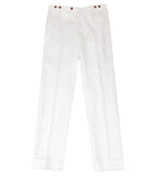 White Wool Pants, Size 48