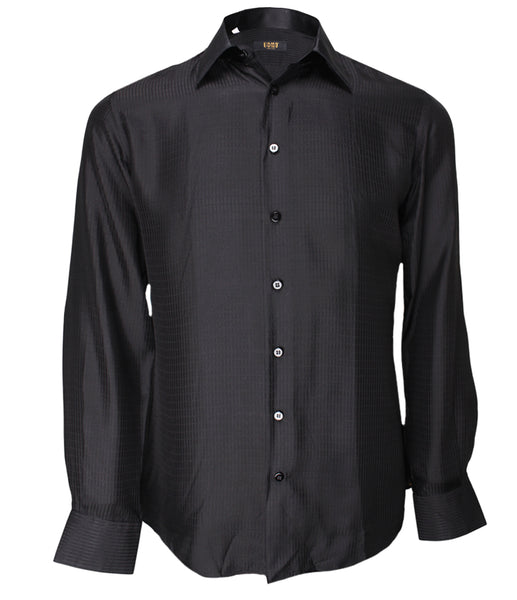 Black Silk Shirt Jacquard