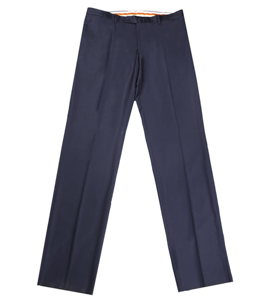 Blue Wool 130'S Pants