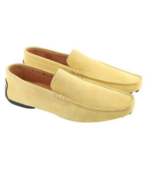 Sand Yellow Suede Moccasins